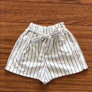 Bershka stripe shorts